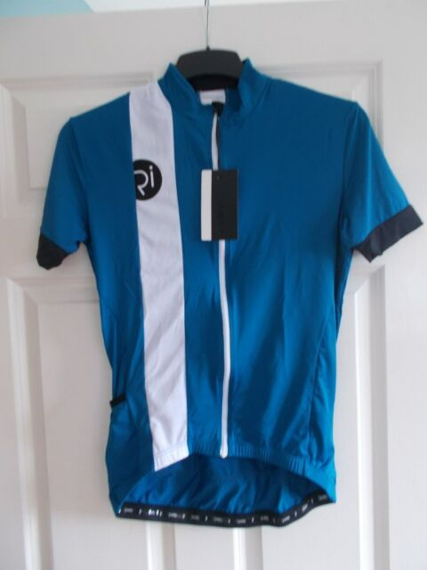 Rivelo Mens Newlands Short Sleeve ZIPPED Cycling Jersey Teal white S ... d264ba9c7