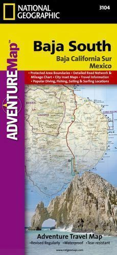 National Geographic Adventure Map: Baja South - Baja California Sur ...