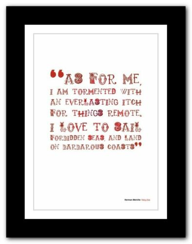 HERMAN MELVILLE Moby-Dick typography book quote poster print inspirational #112