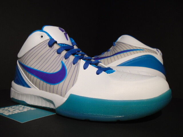 09 NIKE ZOOM KOBE IV 4 HORNETS DRAFT DAY WHITE PURPLE ORION BLUE 344335-151 9.5