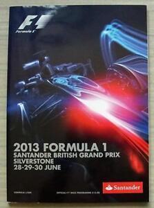 BRITISH-GRAND-PRIX-FORMULA-ONE-F1-2013-SILVERSTONE-Official-Programme