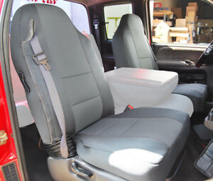 Details about DODGE RAM 1500 2500 3500 1998-2002 GREY VINYL CUSTOM FRONT  SEAT COVERS