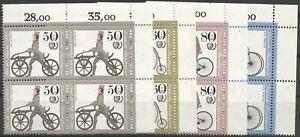 Federal-Frg-Minr-1242-1245-Mint-Block-of-Four-Corner-2-Unfolded