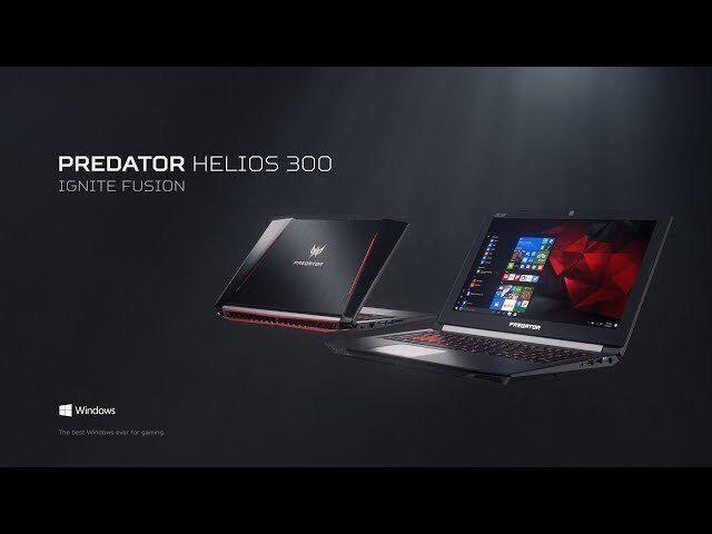 Acer Predator Helios 300 PH317-51-703A - Core i7-7700HQ 6GB GTX1060 1256GB 16GB