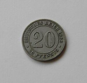 Empire: 20 Pfennig 1887 A, J. 6, Belle/très Belle, Iii.-afficher Le Titre D'origine