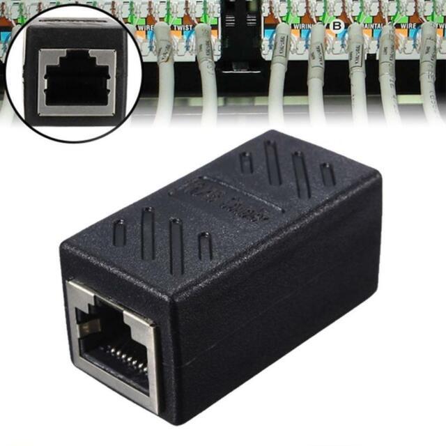 RJ45 Inline Extender Koppler Cat6 Cat5e Ethernet Netzwerk Kabel Adapter V7A4