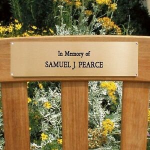 Engraved Brass Plaque Plate Memorial Sign Bench Pet 6 Quot X 2
