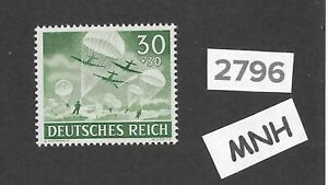 MNH-stamp-1943-PF30-PF30-Military-Wehrmacht-Airborne-WWII-Germany