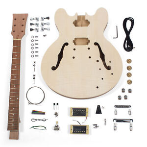 stewmac build your own 335 style electric guitar kit ebay. Black Bedroom Furniture Sets. Home Design Ideas