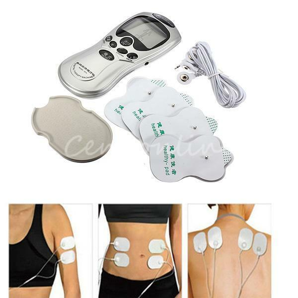 Tens Machine Digital LCD Stress Pain Relief Back Full Body Massager Massage Pad