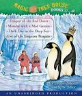 Magic Tree House Books 37-40: Dragon of the Red Dawn; Monday with a Mad Genius; Dark Day in the Deep Sea; Eve of the Emperor Penguin by Mary Pope Osborne (CD-Audio, 2009)