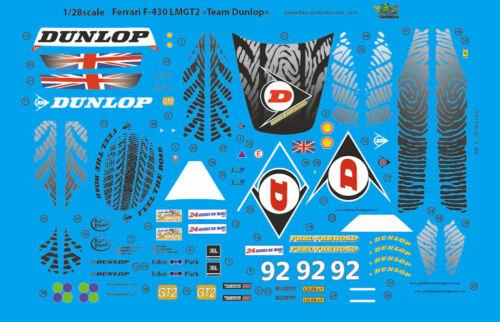 "Mini Z LM 09 Decals 1//28 Ferrari F-430 LMGT2 /""Team Dunlop/"" FFSMC Productions"