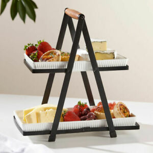 Classica 2 Tier Serving Tower by Ladelle