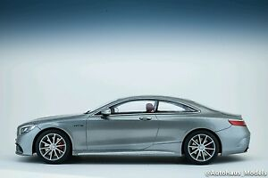 GT Spirit 2015 Mercedes Benz S63 AMG Coupe Silver 1/18 LE of 1000 ...