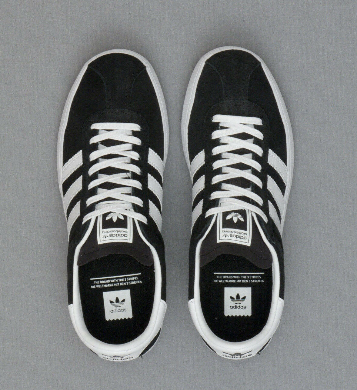 Adidas Black Originals Skate ADV Black Adidas White Sneakers BB8713 NEW f833ec