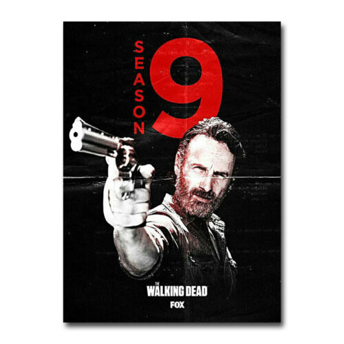 The Walking Dead Season 9 Art Canvas Poster 8x11 12x16 inch