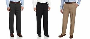 NWT-Men-039-s-IZOD-Flat-Front-Straight-Leg-Performance-Stretch-Dress-Pant-VARIETY