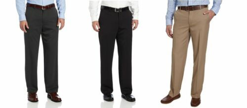 NWT Men/'s IZOD Flat Front Straight Leg Performance Stretch Dress Pant VARIETY