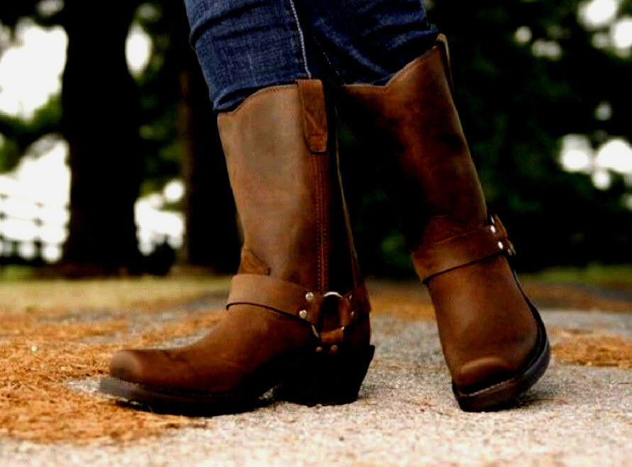 DURANGO Women's Brown Leather Harness Boots Western RD594 NEW Size 10  NEW