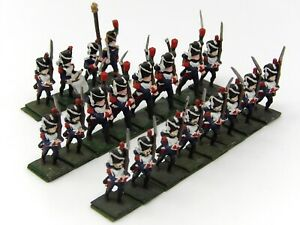 Vintage-25mm-Minifigs-Hinchliffe-PMD-Similar-French-Napoleonic-Infantry-x-20