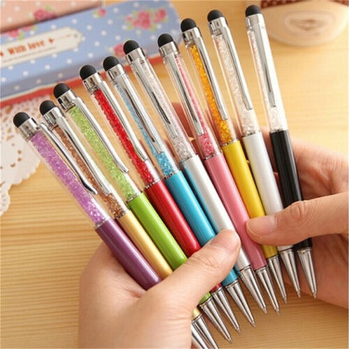 2-in-1 Touch Screen Stylus Ballpoint Pen For iPad iPhone Smartphone Tablet OD