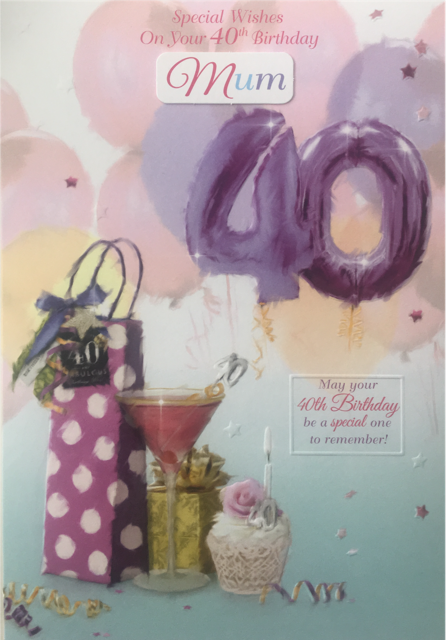 40Th Birthday Card Female Titles Daughter Wife Friend Sister Mum In Law