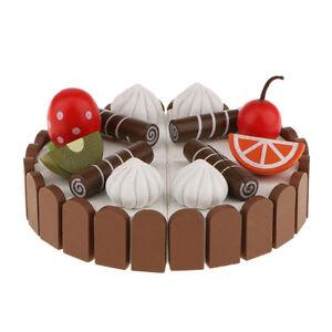 Phenomenal Wooden Magnet Birthday Cake Kid Party Pretend Kitchen Toy Home Personalised Birthday Cards Akebfashionlily Jamesorg