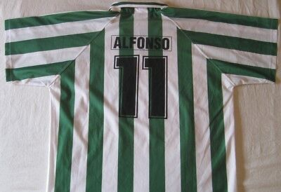 perfume Incompatible bosque  Camiseta Shirt Trikot Real Betis 11 Alfonso Réplica Vintage Size M aprox |  eBay