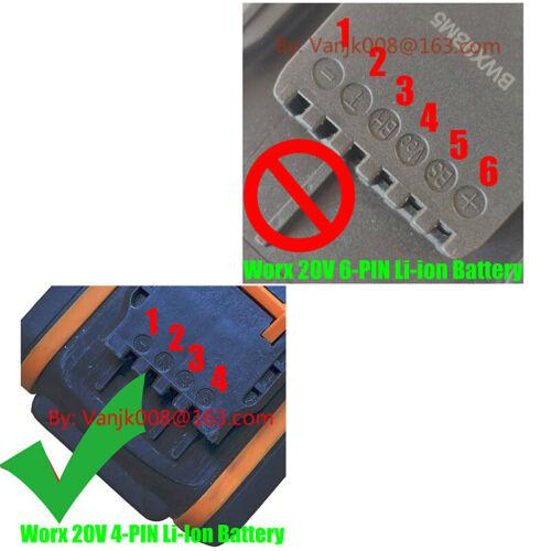 1x WORX 20V 4-PIN Li-Ion System Tools Adapter For Dewalt 20V MAX Li-Ion Battery
