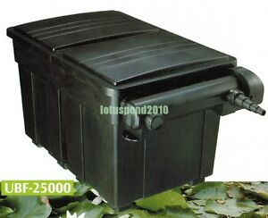 Jebao ubf25000 biological pond filter with uvc option for Biological pond filter