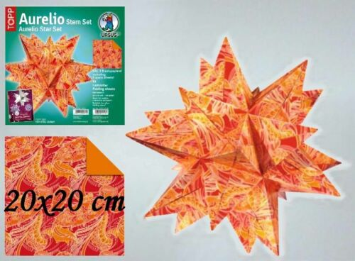 1m²=5,76€ Faltblätter Aurelio Faltpapier Stern Faltstern 20x20 cm Teil1//2