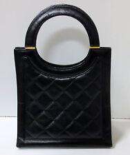 JEAN-LOUIS SCHERRER PARIS Black Quilted Leather Handbag, MINT CONDITION
