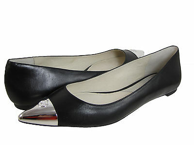 Michael Kors Womens Paxton Flat Black Leather Business Casual Pointed Toe Shoes
