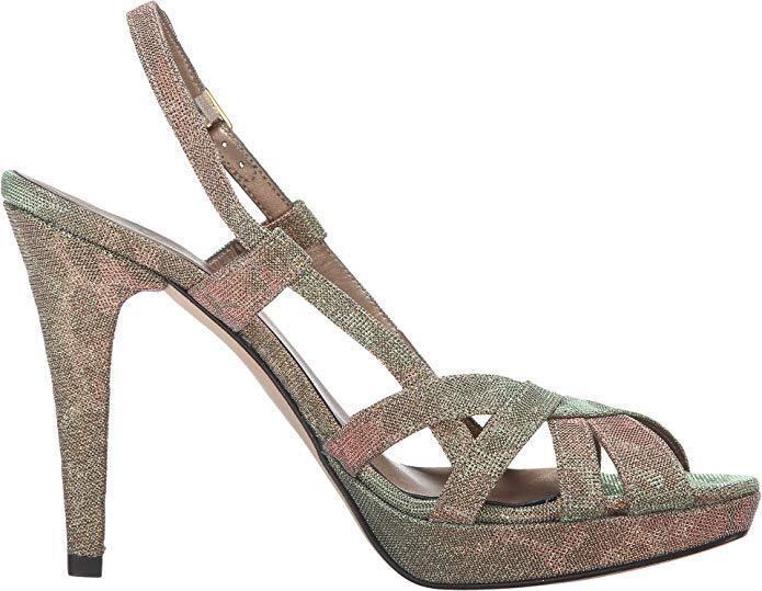 Veneli Quentin Gold Lotti Platform Evening Schuhes/Sandales Größe 8.5 160