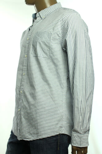 New Tommy Hilfiger Custom Fit Peacoat Theo Stripe Button Up Long Sleeve Shirt S