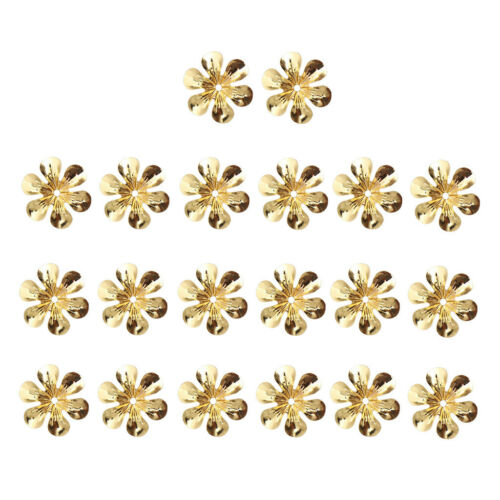100 Pcs Metal Flower Slice Filigree Laminate Decoration DIY Hairpin Headwear