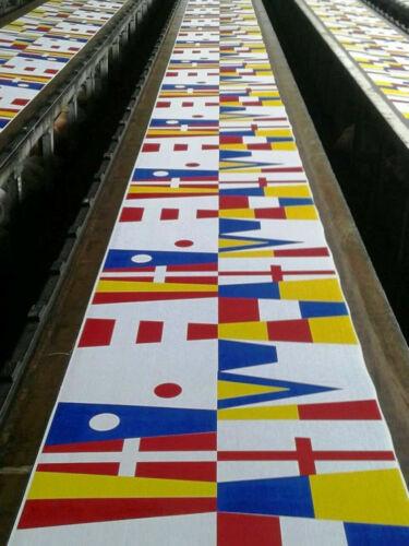 COTTON 14 flags Bunting 6 Feet – Beach Party MARINE NAVY Signal Code FLAG