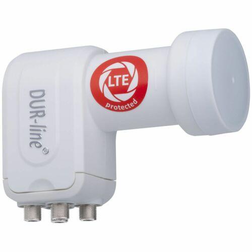 Quad LNB DUR-line Ultra 4 Teilnehmer LTE DECT-Filter Weiss HD Quattro LNB Switch