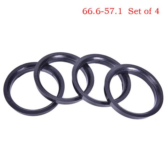 4Pcs 66.6-57.1mm Plastic Wheel Bore Center Collar Hub Centric Ring P*CA