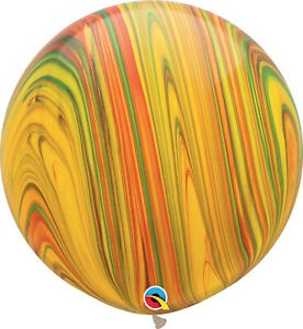 RAINBOW-BALLOONS-30-034-76cm-QUALATEX-TRADITIONAL-SUPERAGATE-PACK-OF-2-BALLOONS