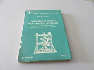 R. Berardi, Diccionario De Términos De Crítica Literaria Ed. Le Monnier 1968