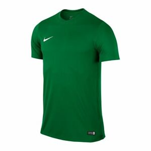 reputable site 53ff7 619ec Details zu Nike Park VI Herren Trikot T-Shirt grün Dri-FIT Fußball Fitness  Training 725891