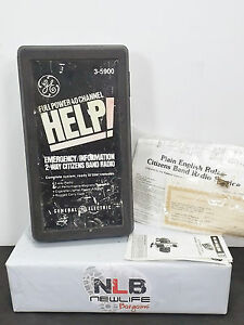 General Electric 40 channel Emergency Citizen Band Transceiver Radio with Case +
