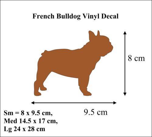 French Bulldog  Vinyl Decal Sticker Dog Wall Art Decoration