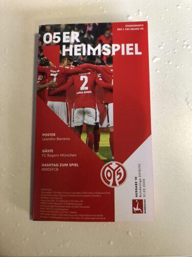 Programm 1 FC Bayern München 01.02.2020 FCB Programmheft FSV Mainz 05