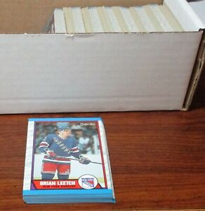 1989-90-OPC-Hockey-Lot-of-Approx-2-800-Cards-w-Leetch-RC-NRMT-PLEASE-READ