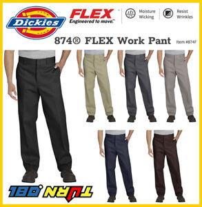d56056e9a67323 Dickies NEW FLEX 874F WORK PANTS Men Original Fit Classic Work ...