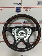 01-04 R170 MERCEDES SLK320 SLK230 DRIVER STEERING WHEEL WOOD GRAIN/BLACK