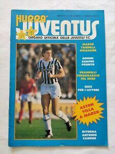 HURRA' JUVENTUS N. 1 GENNAIO 1983 SERGIO BRIO PRANDELLI TARDELLI ASTON VILLA