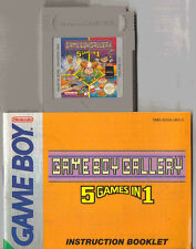 NINTENDO GAME BOY GALLERY 5 GAMES IN 1 CART GAME & MANUAL ONLY